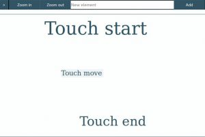First web based Auginte tool: Touch based interaction is hard